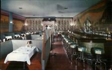 Akron OH Westgate Lounge Restaurant c1950s Postcard