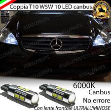 COPPIA LUCI DI POSIZIONE 10 LED MERCEDES CLASSE A W169 CANBUS NO ERRORE 440 LM