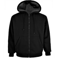 Victory Outfitters Men's Fleece Zip Up Hoodie with Heavy Duty Sherpa Lining