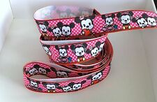 Yard Disney Baby Mickey Minnie Mouse Polka carácter de cinta del grosgrain #53