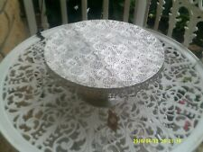 NEW LACE FOOTED CAKE/CUPCAKE PLATE/STAND