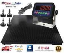 """5 Year Warranty Prime 10,000 lb x 1 lb 40"""" x 40"""" Floor Scale Heavy Duty Steel"""