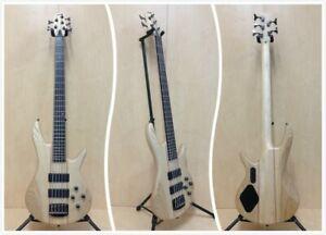 Haze Neck-Thru Structure 5-String Electric Bass Guitar,Pre-Amp. +Free Bag B-337N