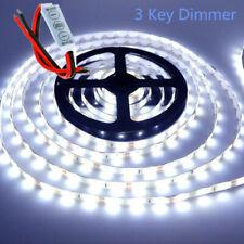 For Boat Marine Deck Interior Lighting 16 FT White LED Strip + Dimmer