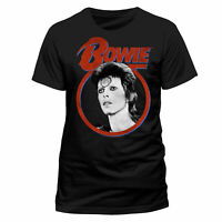 Official David Bowie T-Shirt Ziggy Stardust Face Mens Black XXL NEW