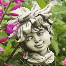 Hormigón fundición flores niño Laisy jardín personaje escultura decoración jardín vara bancal