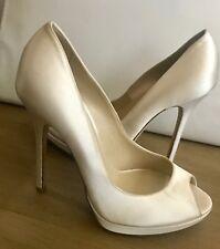4176098cf458 Jimmy Choo - 5 inch Wedding Satin Shoes with platform - size 38