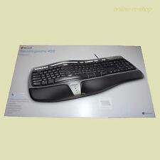 Microsoft Tastatur ergonomisch mit Kabel Natural Ergonomic Keyboard 4000