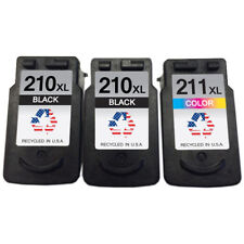 Canon PG-210XL & CL-211XL 2B/1C Remanufactured Ink Cartridges Shows Ink Levels