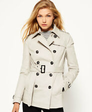 03bea6b3cb033 New Womens Superdry Winter Belle Trench Coat Stone