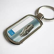 Hyundai i40 Schlüsselanhänger mit Kennzeichen +3D Beschichtung +Gravur Rückseite