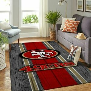 San Francisco 49ers NFL Team Area Rug For Living Room Carpet Floor Decor The US