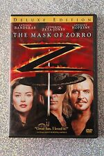 The Mask of Zorro DVD Deluxe Edition-Antonio Banderas-Catherine Zeta-Jones-Nice