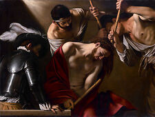 Caravaggio - Crowning with Thorns, Michelangelo, Jesus Poster, Canvas Print