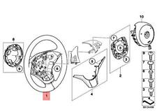 Genuine BMW E60 Sport Steering Wheel Leath Paddles/Lanedepwarning 32346774125