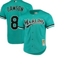 Authentic Mitchell & Ness Florida Marlins #8 Baseball Jersey New Mens $110