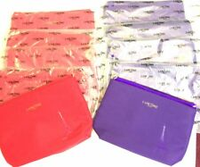 """Lot  of 10, Lancome Cosmetic Makeup Bags Cotton RED + PURPLE New 9X7.5"""""""