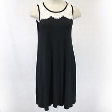 NEW NWT Karen Kane Plus Size Lace Yoke Jersey Little Black Dress 3X Made in USA