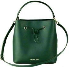 New Michael Kors Suri Large Bucket Messenger Bag Leather Racing Green