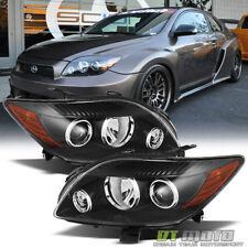 Black [Factory Style] 2008 2009 2010 Scion tC Headlights Headlamps Left+Right