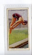 (Jc3617-100)  OGDENS,SWIMMING,FRONT JACK-KNIFE DIVE,1931,#47
