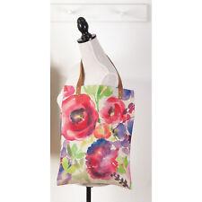 "Floral Woven Shopping Bag 13.7""x18"""