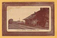 G.T.R. Station Victoria Road Ont. post card