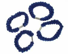 Royal Blue Twisted Hair Elastics Hair Bands Hair Accessories