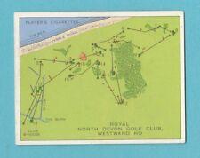 GOLF - PLAYERS - CHAMPIONSHIP GOLF COURSES CARD -  NORTH  DEVON  -  1936