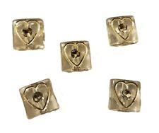 250 pcs Clear Diamonettes Square Rhinestone Heart Plastic Acrylic Craft Beads