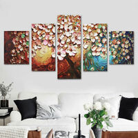 5Pcs Flower Tree Abstract Canvas Print Art Oil Painting Picture Home Wall  US