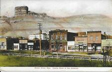 Green River WY with Castle Rock in distance nice postcard postally used in 1908?