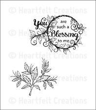 HEARTFELT CREATIONS PreCut Rubber Stamps YOU ARE SUCH A BLESSING TO ME HCPC3564