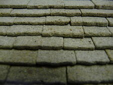 25 sq ins 1:24th Scale REAL STONE Miniature Grey Stone Roofing Slabs