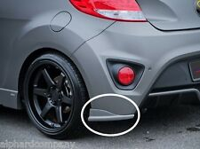 SEQUENCE Rear Bumper Fender Lip UNPAINTED for 2013+ HYUNDAI Veloster Turbo