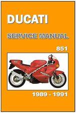 DUCATI Workshop Manual 851 1989 1990 & 1991 Maintenance Service Repair
