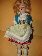 "Vintage DOLL plastic dutch OLD Eyes Open Close 7 1/2"" ethnic"