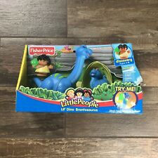 Fisher Price Little People Lil' Dino Dinosaur Brontosaurus Vintage Set New 2006