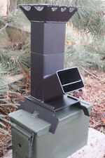 Shadrach V2 Portable Rocket Stove New Design for Ammo Can storage (stove only)