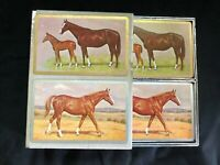 VINTAGE CONGRESS PLAYING CARDS TWO DECKS  HORSES CEL U TONE  w/Box