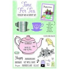 Simply Cards & Papercraft Magazine Issue 159 - Time for Tea Die & Stamp Set