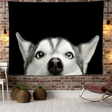 Alaskan Husky Wolf Dog Picture 3D Print Animals Arts Home Decor Wall Tapestry