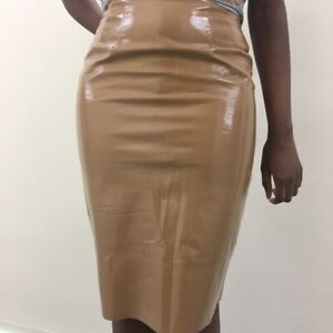 topshop nude pvc skirt size 8 (can fit a small 10)