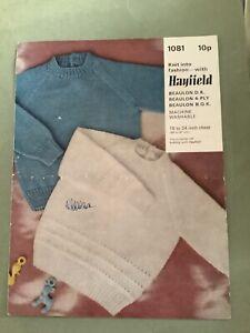Vintage Knitting Pattern Hayfield Dk 4 Ply Toddler Jumper Baby