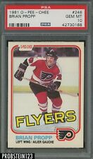 1981 O-Pee-Chee OPC Hockey #246 Brian Propp Philadelphia Flyers PSA 10 GEM MINT