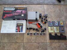 Nintendo Entertainment System Action Set Bundle Gray Console NES Mario Zelda Box