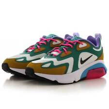 Womens Nike Air Max 200 Mystic Green White Gold Suede Size 10 AT6175-300
