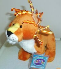 Curly Lion full size 8.5in Webkinz plush pet with sealed unused code HM728