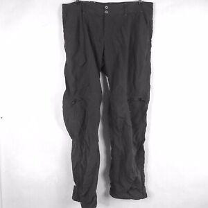 Columbia Omni-Shade Sun Protection Womens Pants Zip-Up Pockets Black SZ 14