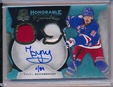2016-17 The Cup Honorable Numbers Patch AUTO Pavel Buchnevich /89